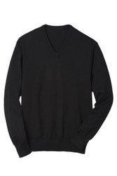 V-Neck Fine Gauge Sweater