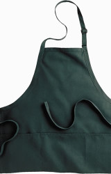 Bib Apron With Three Pockets