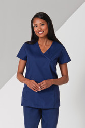 Embroidered Princess Scrub Top