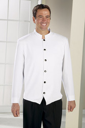 Men's Hotel Server Jacket in White