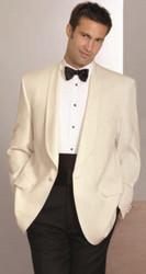 Men's Ivory Shawl Dinner Jacket