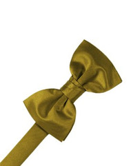 Solid Satin New Gold Bowtie