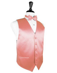 Coral Reef Solid Satin Vest