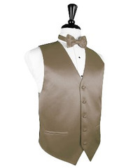 Latte Solid Satin Vest