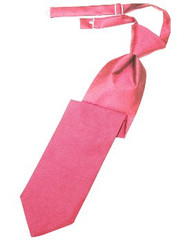 Bubblegum Solid Satin Long Tie