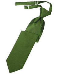 Clover Solid Satin Long Tie