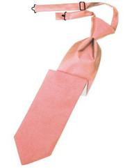 Coral Solid Satin Long Tie