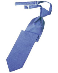 Cornflower Solid Satin Long Tie