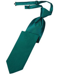 Jade Solid Satin Long Tie