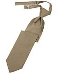 Latte Solid Satin Long Tie
