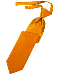 Mandarin Solid Satin Long Tie