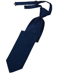 Marine Solid Satin Long Tie