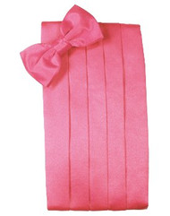 Bubblegum Solid Satin Cummerbund