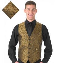 Gold Paisley Vest
