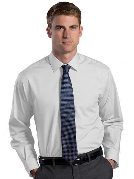 Oxford dress shirt spread collar non iron tips uniforms for Men s spread collar shirts