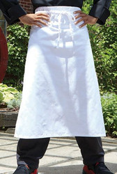 Budget Bar Apron-White
