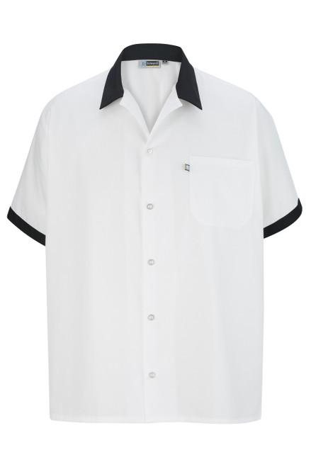 Black Trimmed Collar Kitchen Shirt