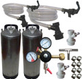 Kegging Party Kit - Two Kegs and Taps - One Handle