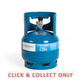 Gas Bottle 3/8in LH 1.25kg - CLICK & COLLECT ONLY