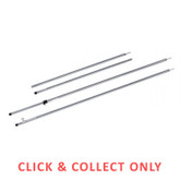 Tent Pole with Tee Nut Fitting 1.98m Galvanised Tube - CLICK & COLLECT ONLY