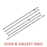Roof Rail with Tee Nut Fitting 2.44m Galvanised Tube - CLICK & COLLECT ONLY