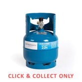 Gas Bottle 3/8in LH 2kg - CLICK & COLLECT ONLY