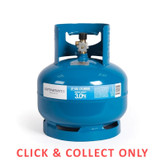 Gas Bottle 3/8in LH 3kg - CLICK & COLLECT ONLY