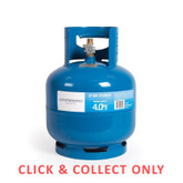 Gas Bottle 3/8in LH 4kg - CLICK & COLLECT ONLY