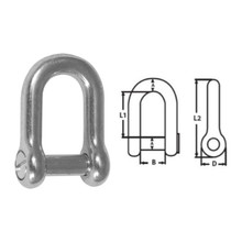 Shackle D Slotted Head Stainless Steel 10mm