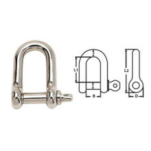 Shackle D Stainless Steel 12mm
