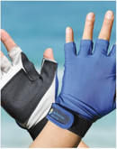 Sun Protection Sports Glove Blue UPF50+ Large