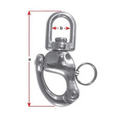 Swivel Snap Shackle Stainless Steel 70mm