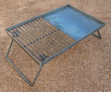 BBQ Plate/Grill 6mm with Legs 60x40cm
