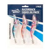 Jarvis Walker Razorback 4.0 Squid Jig 3PCS