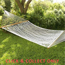 Hammock Double Wooden Bars - CLICK & COLLECT ONLY