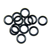 Black Solid Brass Rings 3/8inch 12PCS