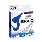 Daiwa J-Braid X4 50lb x 300m Multi Colour Line