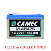 Battery 120AH SLA AGM Fully Sealed Deep Cycle - CLICK & COLLECT ONLY
