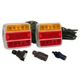 Trailer Light Set LED with 8m Cable & 7 Pin Plugs