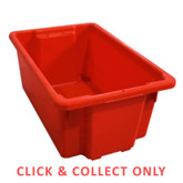 52L Stacking Nally Crate Red - CLICK & COLLECT ONLY