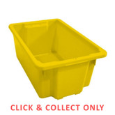 52L Stacking Nally Crate Yellow - CLICK & COLLECT ONLY