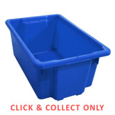 52L Stacking Nally Crate Blue - CLICK & COLLECT ONLY