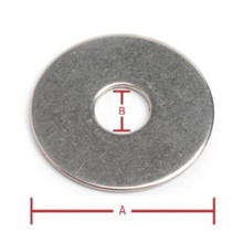 Flat Washer 1/4inch ID x 1inch OD 6PCS 304 Grade Stainless Steel