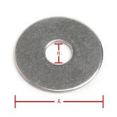 Flat Washer 3/8inch ID x 1 1/2inch OD 4PCS 304 Grade Stainless Steel
