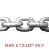 Chain Galvanised Short Link 10mm per Metre - CLICK & COLLECT ONLY