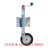 Jockey Wheel 8inch Swing Up + U Bolt Clamp - CLICK & COLLECT ONLY