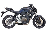 IXIL L3XB BLACK HYPERLOW XL FULL EXHAUST YAMAHA MT-07 2014-2019