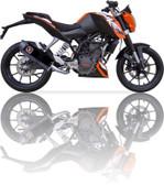 IXIL XTREME BLACK EXHAUST XOVS KTM DUKE 125 2011-2016