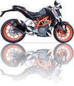 IXIL XTREME BLACK EXHAUST XOVS KTM DUKE 390 2012-2016
