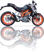 IXIL L3XB HYPERLOW BLACK EXHAUST KTM DUKE 390 2012-2016